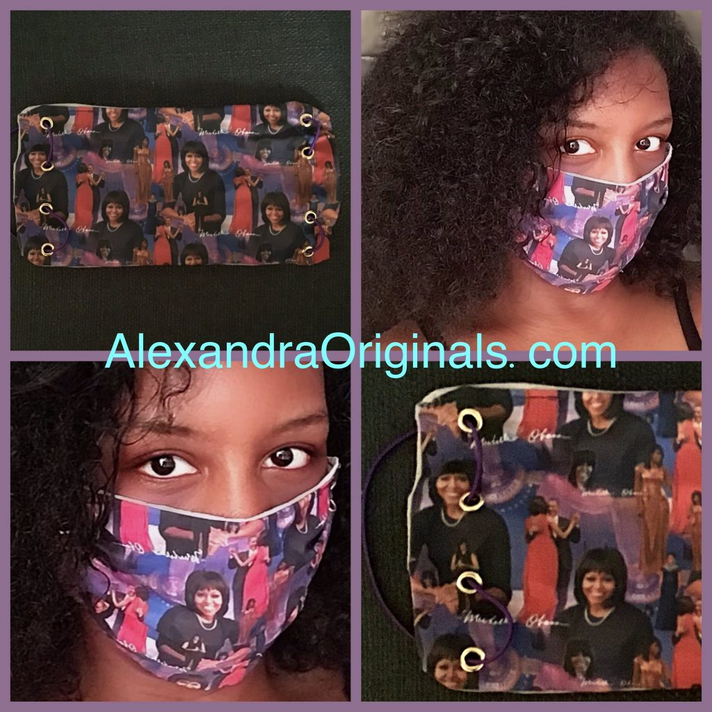 michelle obama themed face mask design 01